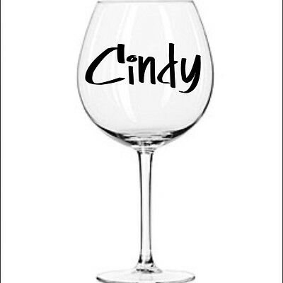 Design Your Own Vinyl Decal For Beverage Wine Drink Glass Party BD 2- 3