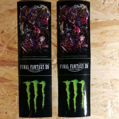 FINAL FANTASY XIV Monster Energy Sticker 2 pieces set Seven Eleven limited Rare