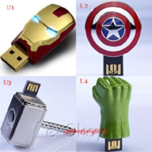 wholesale-AVENGERS-USB-Flash-Drive-4pcs-Ironman-Captain-America-Thor-Hulk-4-32GB