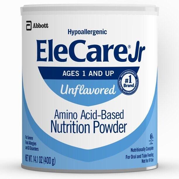 EleCare JR Unflavored Powder Amino Acid - 1 Case ( 6 Cans) 14.1oz Exp.1/JUN/2023