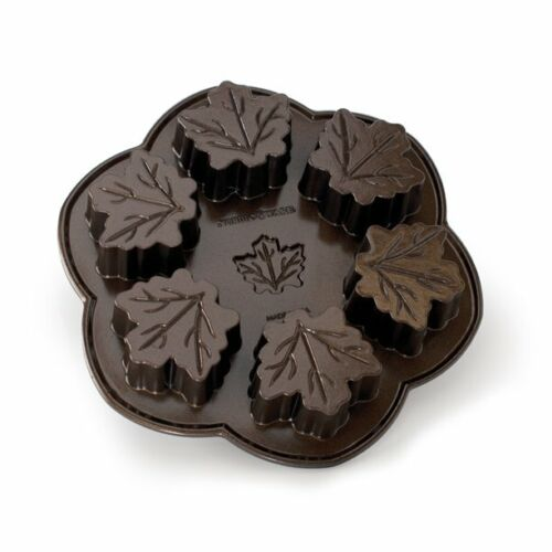 NORDIC WARE Cast Aluminum MAPLE LEAF Cake Mold Muffin Baking Pan
