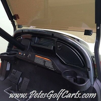 (Club Car Precedent Golf Cart Carbon Fiber Dash Kit for 2008.5 and Up)