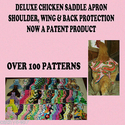 1 Deluxe Bantam Chicken Saddle Hen Apron Wings Back Shoulder Hatching Eggs