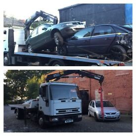 Ford Iveco tector tilt and slide recovery 21 ft body 4 ton hiab crane led flashing lights low reach