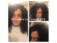 MOBILE AFRO HAIRDRESSER- GET YOUR WEAVES DONE FROM £12. BOX BRAIDS FROM £28, CROCHET BRAID FROM £25.