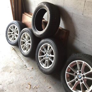BMW 5 series Winter Wheels (4 rims + 5 tires)