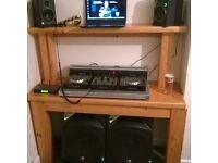 Pioneer CDJ DJM 350 /Mackie CR4 and 2x Thump /Sennheiser Microphone