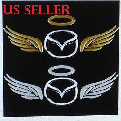 Car Auto Wing -  3D Silver Angel Wing Car Stickers/Auto Sticker Automobile Emblem Label # 45