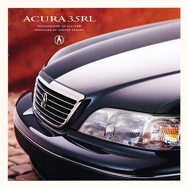 1996 Acura 3.5 RL Original Intro Mailer Sales Brochure Folder