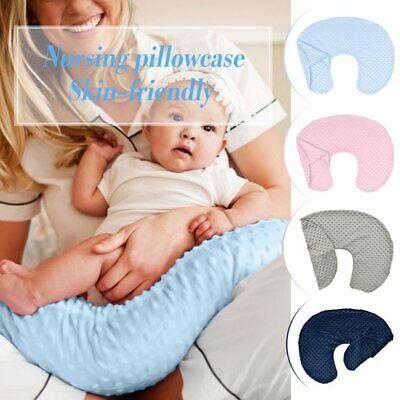 Newborn Baby Kids Breastfeeding Nursing Cotton U-Shape Pillow Cover Slipcover ED