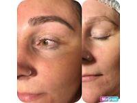 Microblading permanent eyebrow