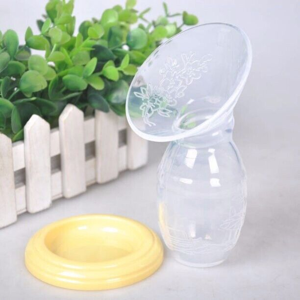 Mom Silicone Manual Breast Pump Feeding Storage Bottle Breastfeeding Milk Saver