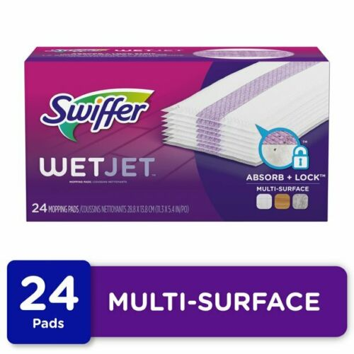 Swiffer WetJet Multi Surface Mopping Pad Refill, 24 ct