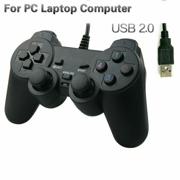 New USB 10 KEYS SHOCK2 CONTROLLER PC GAME PAD Controllers & Attachments