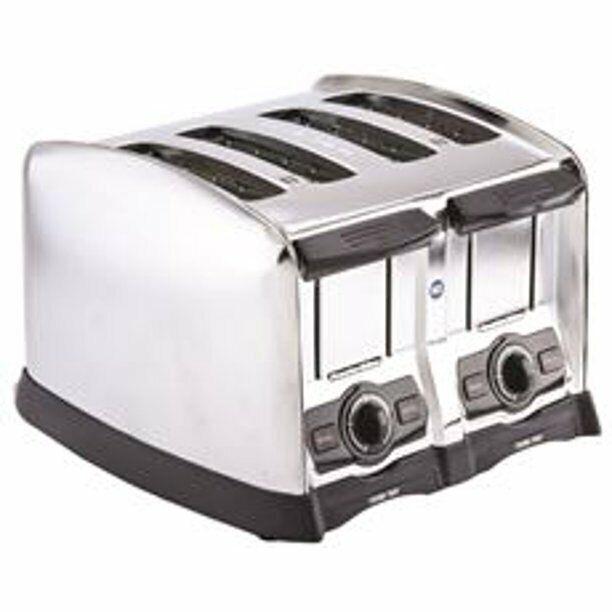 Hamilton Beach 4 Slice Extra-Wide Slot Commercial Toaster, Chrome, 120 Volts