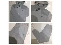 Brand New With Tags Mens Armani Grey Embroidered Slim Fit Tracksuits £30