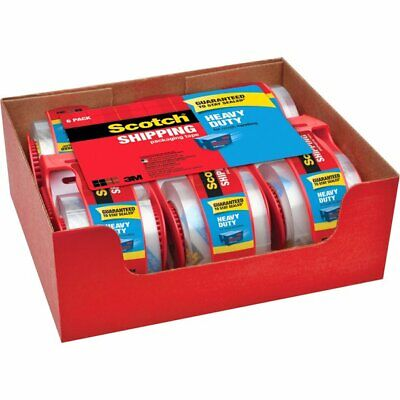 Scotch Sure Start Packaging Tape 1.88 Inch X 22.2 Yards 2 Core Clear 6pack
