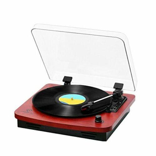 Record Player Musitrend /Jorlai 3-Speed Belt-Drive Turntable Oak 202RDWood