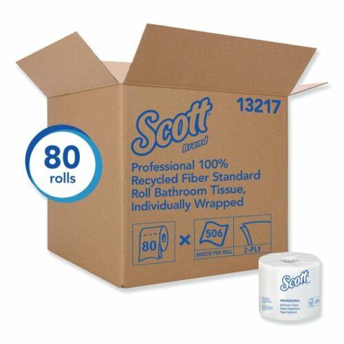 80 Rolls SCOTT Soft Toilet Paper 506 Sheets 2Ply NO CLOG SEPTIC SAFE Bulk Supply