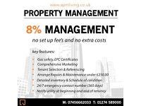 8% Property Management (NO SET UP FEES + NO HIDDEN COSTS)