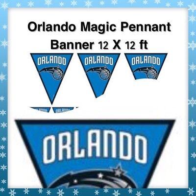 🏀Orlando Magic NBA Pro Basketball Banquet Party Pennant Banner {Brand New}🏀](Basketball Banquet Decorations)