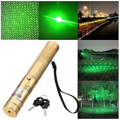 Hightech Laserpointer 532nm / Grün / Extrem Stark / Akku / Ladegerät / NEU