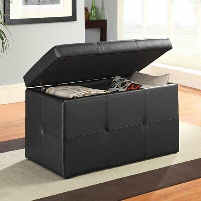 Better Homes and Gardens BH35-119-099-01 30 inch Hinged Ottoman Storage Box -...