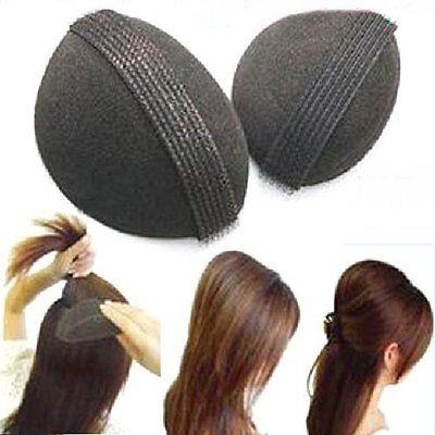 2er SET Haarkissen Haar Volumen Schaumstoff Kissen mit Klettband Frisurenhilfe