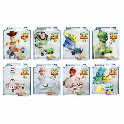 Hot Wheels Toy Story 4 Character Cars Complete Set of 8 Buzz Woody Forky Duke +