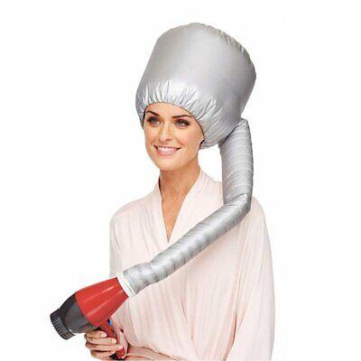 Сушило за косу Облик меке капице са капуљачом, додатак за фен за косу - сребрни