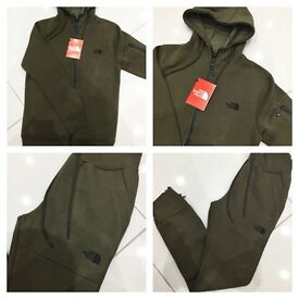 Brand New With Tags Men's North Face Tracksuit Khaki £35 Slim Fit