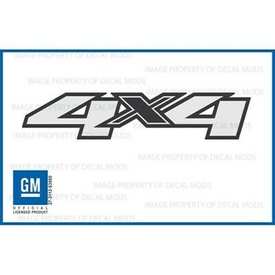 2007-13 Chevy Silverado GMC Sierra 4x4 decal side 1500 2500 GM sticker truck
