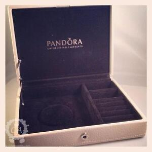 NEW Pandora Jewerly Box In Beautiful Shape. Genuine Leather exterior.