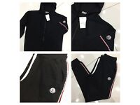 Brand New With Tags Men's Moncler Hooded Tracksuits Black £30