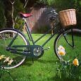 Vintage British Bicycle classic retro ladies bike with basket