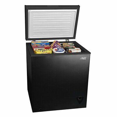 aaarctic kkking 5 cu ft chest freezer, black
