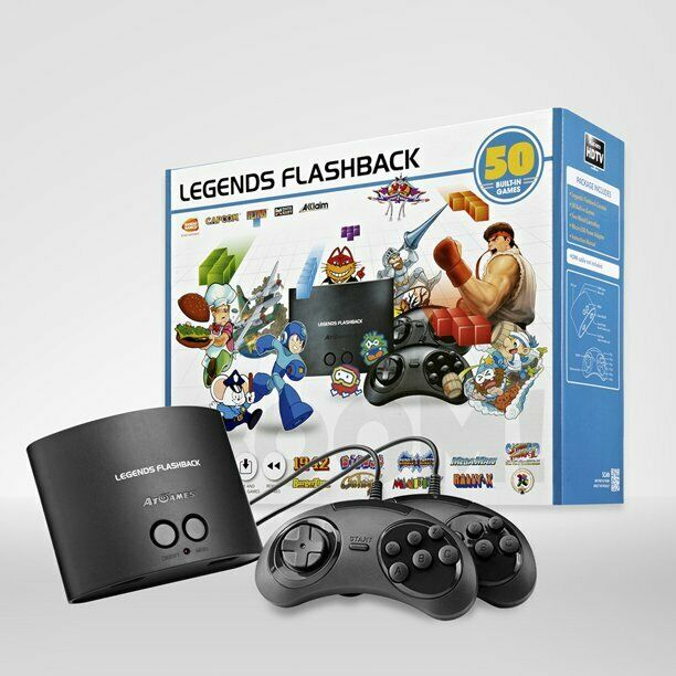 LEGENDS FLASHBACK DELUXE GAME CONSOLE WITH 50 BUILT-IN GAMES