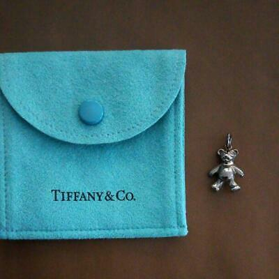 Tiffany & Co. Teddy Bear Charm Necklace Pendant Top Silver