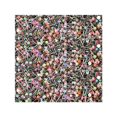 Lot of 100 Labret Lip Rings 14g 5/16 and 3/8 with Acrylic Ball/spike