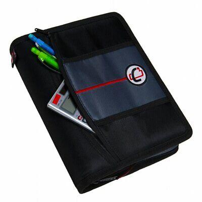 Case It - The Mini Tab 3 Ring Zipper Binder Organized Small Plenty Pocket Space