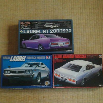 Vintage Rare Toys 1/24 Laurel SGX 3 units set  old car plastic Model From JP