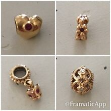 Genuine 14k Gold Pandora Charms Hocking Wanneroo Area Preview