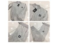 Brand New With Tags Men's S.I Grey Tracksuits Zipper £20