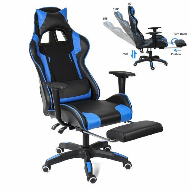 INSMA Gaming Chair High-Back Office Chair Racing Style Lumba