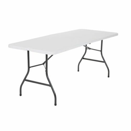 Cosco 6 Foot Centerfold Folding Table, White. FREESHIP