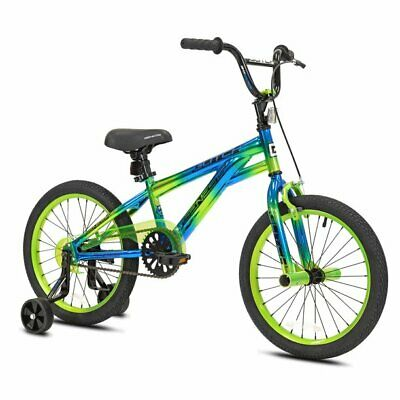 "18"" Glitch Boy's BMX Bike, Blue/Green"