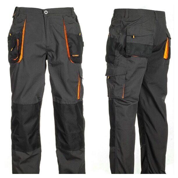 Mens Work Trousers Heavy Duty Pants Knee Pad Cargo Combat