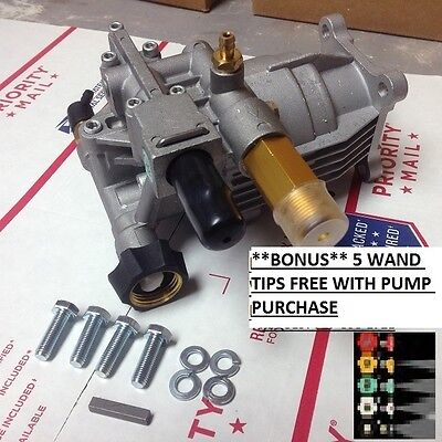 Bonus Pack Horizontal Pressure Washer Pump Kit 34 Generac Suburu Honda Briggs