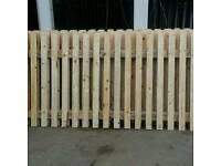 6FT WIDE X 4FT HIGH FENCE PANELS