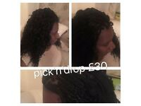 MOBILE AFRO HAIRDRESSER- WEAVES FROM OLNY £15. BOX BRAIDS FROM £20, CROCHET BRAID FROM £25.